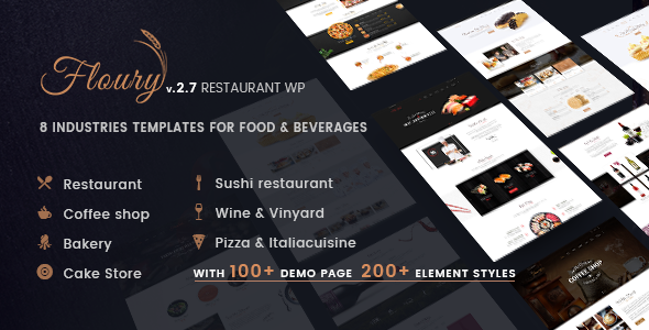 Restaurant WordPress | Floury - Restaurants & Cafes Entertainment