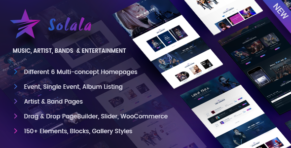 Music WordPress | Solala - Music and Bands Entertainment