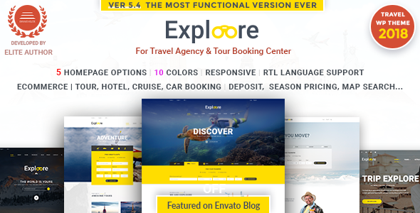 Travel WordPress | EXPLOORE - Travel Retail