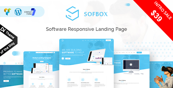 Sofbox - WordPress Software Landing Page - Technology WordPress