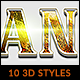 Free Download 10 3D Styles vol. 01 Nulled