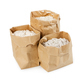 Flour and flour mixture in paper bags isolated on white - PhotoDune Item for Sale
