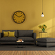 Modern living room with sofa and footstool - PhotoDune Item for Sale