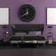 Black and purple master bedroom - PhotoDune Item for Sale