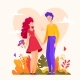 Romantic Couple - Modern Flat Design Style - GraphicRiver Item for Sale