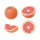 Set of Isolated Colored Pink Grapefruits - GraphicRiver Item for Sale