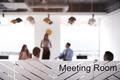 Boardroom Presentation Viewed Through Meeting Room Window - PhotoDune Item for Sale