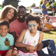 Free Download Portrait Of Family With Children Sitting On Rug At Summer Garden Fete Nulled