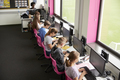 Line Of High School Students Working at Screens In Computer Class  - PhotoDune Item for Sale
