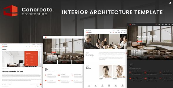 Concreate Interior Architecture Interactive Template