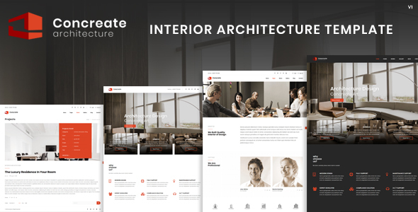 Concreate Interior Architecture Interactive Template - Business Corporate