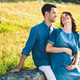 Young Caucasian Man Hugging Pregnant Wife - PhotoDune Item for Sale