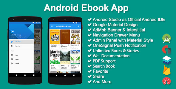 Android Ebook App - CodeCanyon Item for Sale