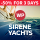 Free Download Sirene | Yacht Charter Services & Boat Rental WordPress Theme Nulled