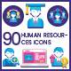 Human Resources Icons - GraphicRiver Item for Sale