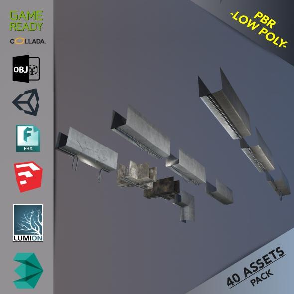 Ceiling Deco - 3DOcean Item for Sale
