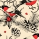 Vector Seamless Pattern with Finches and Holly - GraphicRiver Item for Sale