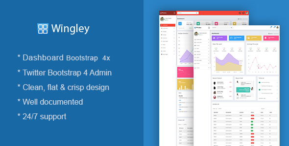 Awesome Wingley - Responsive Dashboard Admin Template
