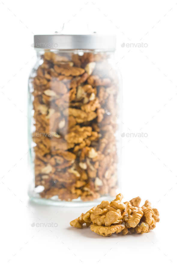 The walnut kernels. - Stock Photo - Images