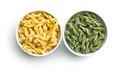 Uncooked spinach gemelli pasta. - PhotoDune Item for Sale