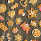 Christmas gingerbread made by children. - PhotoDune Item for Sale