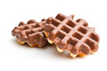 Waffles with chocolate topping. - PhotoDune Item for Sale