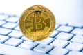 Golden coin bitcoin. Cryptocurrency concept. - PhotoDune Item for Sale