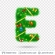 Holiday Decorative Letter of Fir Tree with Toys. - GraphicRiver Item for Sale