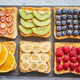 Free Download Wholegrain bread slices with peanut butter and various fruits Nulled