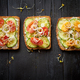 Free Download Row of three healthy vegetable toasts Nulled