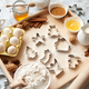 Free Download Delicious fresh and healthy ingredients for Christmas gingerbread Nulled
