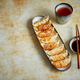 Free Download Orginal asian dumplings gyoza served in long plate Nulled