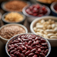 Free Download Raw red bean in ceramic bowl. Selective focus Nulled