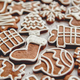 Free Download Composition of delicious gingerbread cookies shaped in various Christmas symbols Nulled