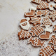 Assortment of fresh gingerbread Christmas cookies in various shapes - PhotoDune Item for Sale