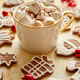Cup of hot chocolate and Christmas shaped gingerbread cookies - PhotoDune Item for Sale