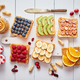 Assortment of healthy fresh breakfast toasts - PhotoDune Item for Sale
