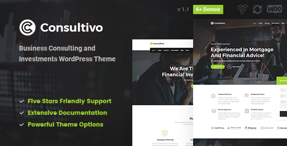 Consultivo - Business Consulting and Investments WordPress Theme - Business Corporate