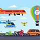 Mode of Transport Set - GraphicRiver Item for Sale