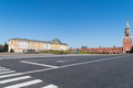 moscow cityscape of armoury chamber (building was built in 1851) and Borovitskaya tower Kremlin - PhotoDune Item for Sale