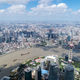 Free Download aerial view of shanghai cityscape in a sunny summer, China Nulled