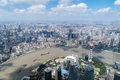 aerial view of shanghai cityscape in a sunny summer, China - PhotoDune Item for Sale
