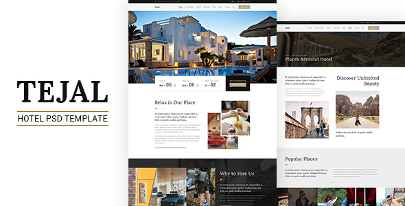 Tejal | Hotel Booking PSD Template - Travel Retail