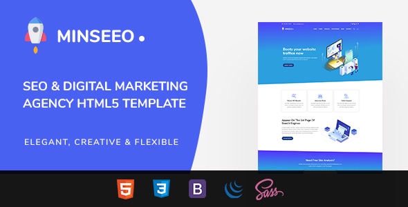 Extraordinary Minseeo - SEO Marketing HTML Template