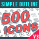 Outline Icons Pack - GraphicRiver Item for Sale