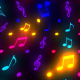 Music Notes Colorful Glowing - VideoHive Item for Sale