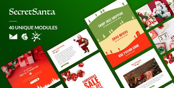 SecretSanta Email-Template + Online Builder - Newsletters Email Templates