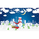 Christmas Village and Snowman in Paper Cut Style - GraphicRiver Item for Sale