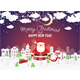 Santa Claus and Snowman in Christmas Village - GraphicRiver Item for Sale