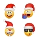 Set of Smiley Face Emoticons Christmas - GraphicRiver Item for Sale
